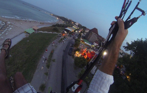 Seaside Flying at Night